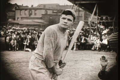 Babe Ruth at bat