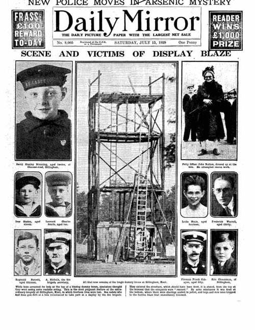 Gillingham Fair fire disaster
