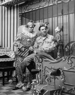 Clarabell the Clown (Bob Keeshan) with Howdy Doody  show host Buffalo Bob Smith.
