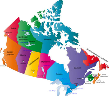 Canada facts Map