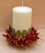 Dried Chilli and Bay Leave Decoration