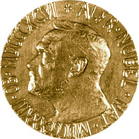 Front of  Nobel Peace Prize