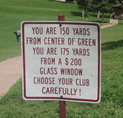 Golf Joke 150 yards