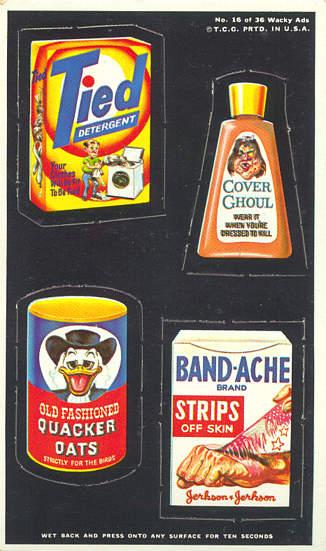 Wacky Pack Ads 1969